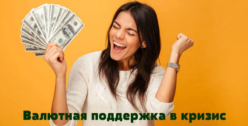 Валютная поддержка. Зарабатывайте в долларах